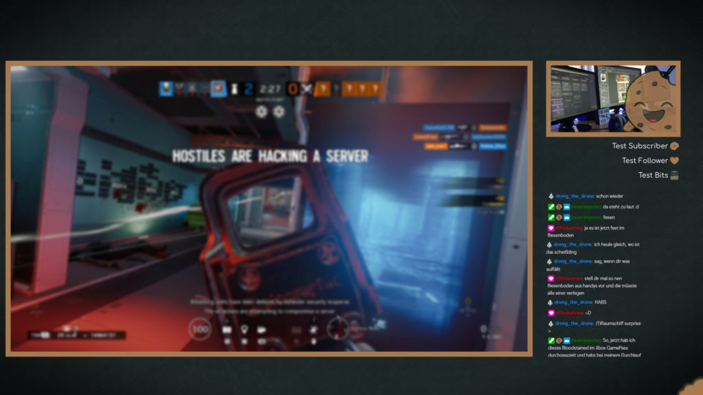 Stream Overlay between games with Facecam