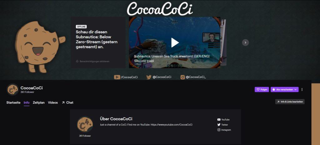 CocoaCoCi Twitch Design